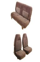 1987-1991 GMC Jimmy Front Bucket Seats; Rear Bench Seat Upholstery Complete Set
