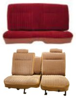 1981-1987 Chevrolet Malibu 2 Door, 55/45 Front Split Bench and Rear Bench; Pleat Design 1 Seat Upholstery Complete Set