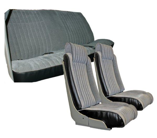 Admirable 81 88 Chevy Monte Carlo Seat Upholstery Complete Set 2 Door Front Bucket Seats And Rear Bench Inzonedesignstudio Interior Chair Design Inzonedesignstudiocom