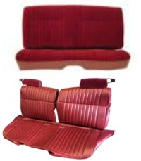 1978-1982 Chevrolet Malibu Front Split Bench Without Arm Rest; Rear Bench; Style 2 Seat Upholstery Complete Set
