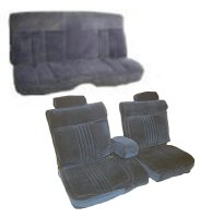 1981-1987 Chevrolet Monte Carlo 2 Door, 55/45 Front Split Bench and Rear Bench; Pleat Design 2 Seat Upholstery Complete Set
