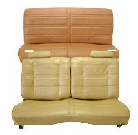 1978, 1979, 1980 Chevrolet Malibu 2 Door 50/50 Front Split Bench; Rear Bench; Horizontal Pleats Seat Upholstery Complete Set