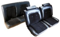 1975, 1976, 1977 Chevrolet Malibu 2 Door, 50-50 Front, Rear Bench, 4 Buttons Per Row Seat Upholstery Complete Set
