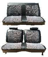 1973-1977 Chevrolet Malibu 2 Door, Front and Rear Bench, 4 Buttons Per Row Seat Upholstery Complete Set