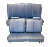 1978-1982 Chevrolet Malibu 2 Door Front Split Bench Without Arm Rest; Rear Bench; Style 1 Seat Upholstery Complete Set