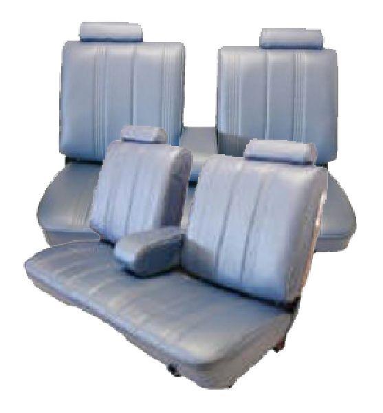 Cool 78 82 Chevy Monte Carlo Seat Upholstery Complete Set 2 Door Front Split Bench With Armrest Rear Bench Inzonedesignstudio Interior Chair Design Inzonedesignstudiocom