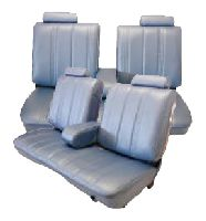 1978-1982 Chevrolet Malibu 2 Door Front Split Bench WITH Armrest; Rear Bench Seat Upholstery Complete Set