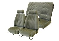 1985-1992 Pontiac Firebird Front Bucket Seats; Solid Rear Back Rest Seat Upholstery Complete Set