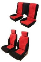 1993-2002 Pontiac Firebird Front Bucket Seats; Solid Rear Back Rest Stitch Pattern 2; Base Model Seat Upholstery Complete Set