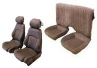 1994, 1995, 1996, 1997 Pontiac Firebird Front Bucket Seats; Solid Rear Back Rest; Base Model Seat Upholstery Complete Set