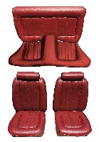 1974, 1975, 1976, 1977 Ford Mustang Front Bucket and Rear Bench; Vertical Pleats Seat Upholstery Complete Set