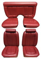 1978 Ford Mustang Front Bucket and Split Rear Bench; Vertical Pleats Seat Upholstery Complete Set