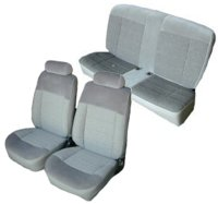 1983-1993 Ford Mustang Front Bucket; Rear Bench; Coupe; Standard Model Seat Upholstery Complete Set