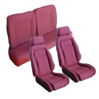 1987, 1988, 1989 Ford Mustang Front Bucket with Leg Lumbar; Split Rear Bench; Hatchback; Sport Model Seat Upholstery Complete Set