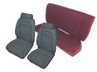 1992, 1993 Ford Mustang Front Bucket; Rear Bench; Coupe; Sport Model Seat Upholstery Complete Set