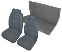 1992, 1993 Ford Mustang Front Bucket with Leg Lumbar; Rear Bench; Convertible; Sport Model Seat Upholstery Complete Set