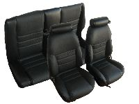 1997, 1998 Ford Mustang Front Bucket; Solid Rear Bench; Convertible; GT Model Seat Upholstery Complete Set