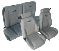 1994, 1995, 1996 Ford Mustang Front Bucket; Solid Rear Bench; Coupe; GT Model Seat Upholstery Complete Set