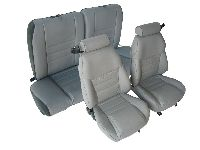 1997, 1998 Ford Mustang Front Bucket; Solid Rear Bench; Coupe; GT Model Seat Upholstery Complete Set