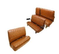 1973-1980 GMC Yukon XL, Suburban Front Bench; Middle Row Split Bench; Rear Bench Seat Upholstery Complete Set