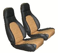 1990, 1991, 1992 Mazda Miata Bucket Seats; With Speakers in Head Rests Seat Upholstery Front Seats