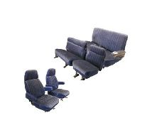 1981-1991 GMC Yukon XL, Suburban Front Captains Chairs; Middle Row Split Bench; Rear Bench; Silverado Style Seat Upholstery Complete Set