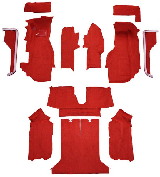 84 87 Chevy Corvette Carpet Coupe Complete Kit With Pad 1984 1985 1986 1987
