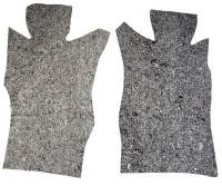1964-1968 Ford Mustang Die cut fire wall insulation pad with massback Custom Padding Kit