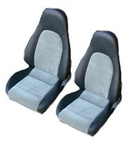 1999, 2000 Mazda Miata Bucket Seats; With Speakers in Head Rests Seat Upholstery Front Seats
